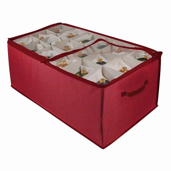 Christmas Storage Box  Shop Christmas 54 cell Ornament Storage Box Free