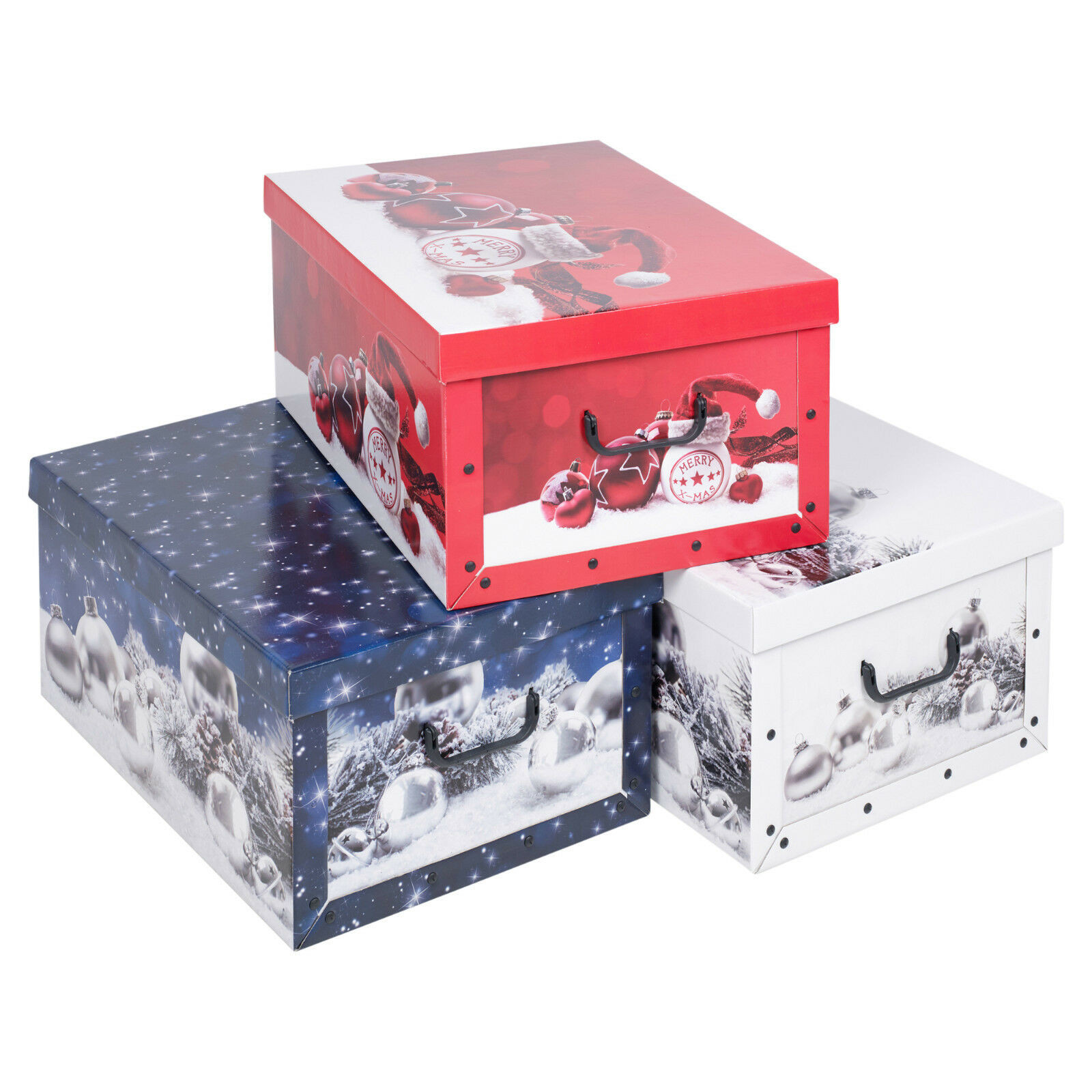Christmas Storage Box  Christmas 3 Underbed Collapsible Cardboard Storage Boxes