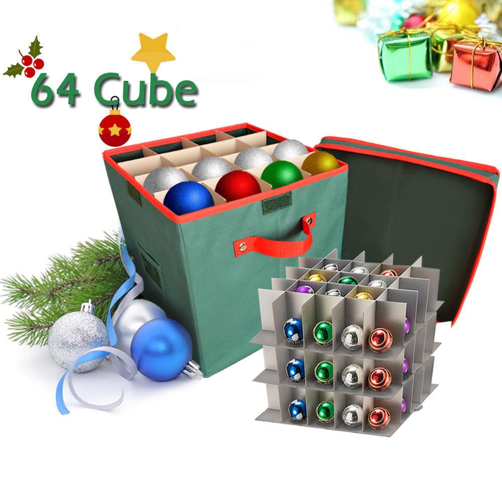 Christmas Storage Box  Christmas Ornament Organizer Storage Box with Lid iClover
