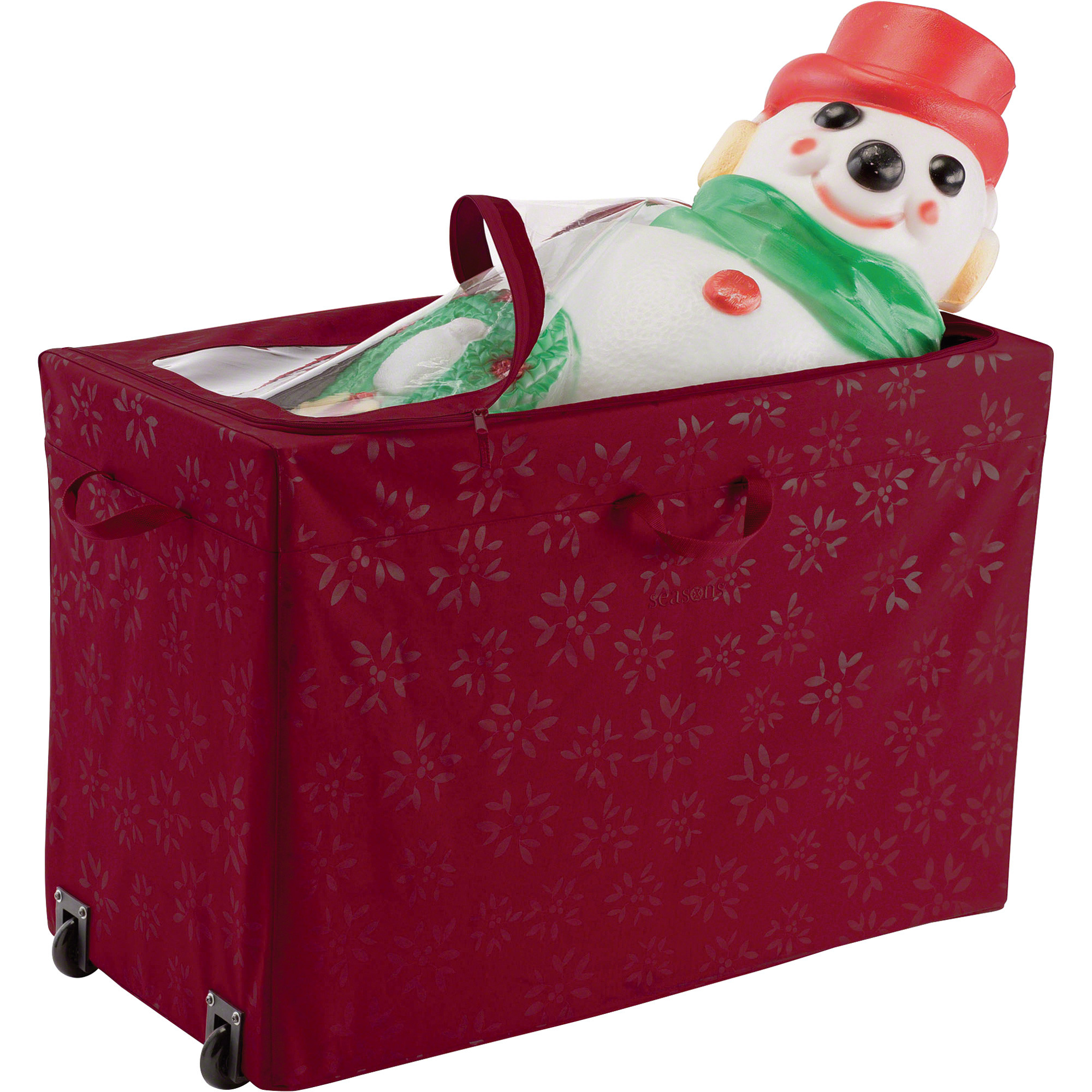 Christmas Storage Box  Classic Accessories All Purpose Rolling Holiday Storage