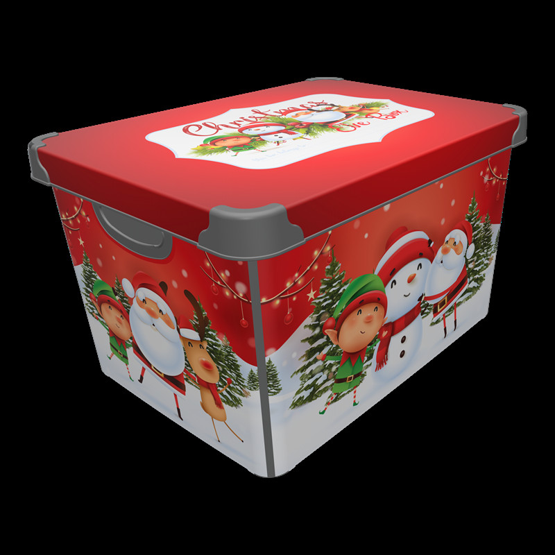 Christmas Storage Box Luxury Festive Christmas Eve Storage Box Red at Homebase