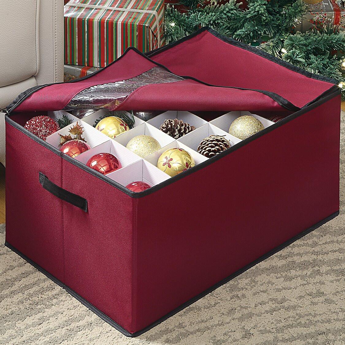 Christmas Storage Box  OIA Christmas Ornament Storage Box & Reviews