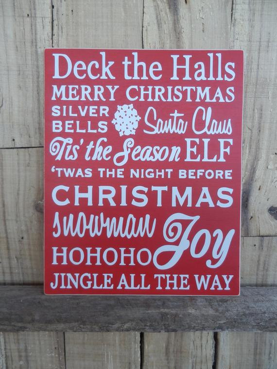 Christmas Story Deck The Halls  Deck the Halls Christmas Sign Merry by CaneySpringsCrafts