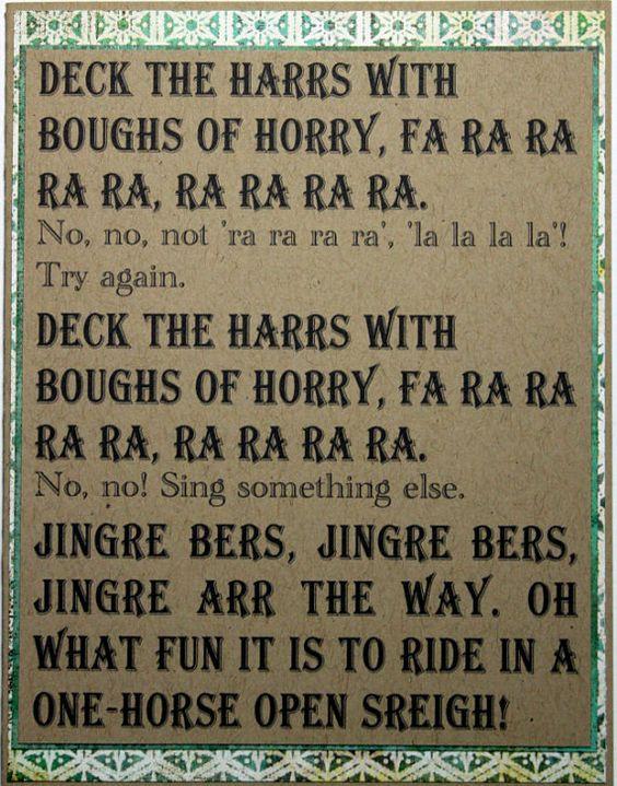 Christmas Story Deck The Halls  Fa Ra Ra Ra Ra A Christmas Story