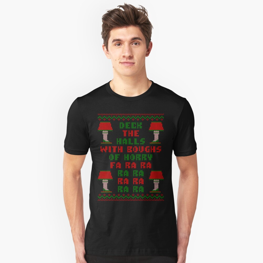 "Christmas Story Deck The Halls  ""Christmas Story Deck the Halls Ugly Sweater"" T shirt by"