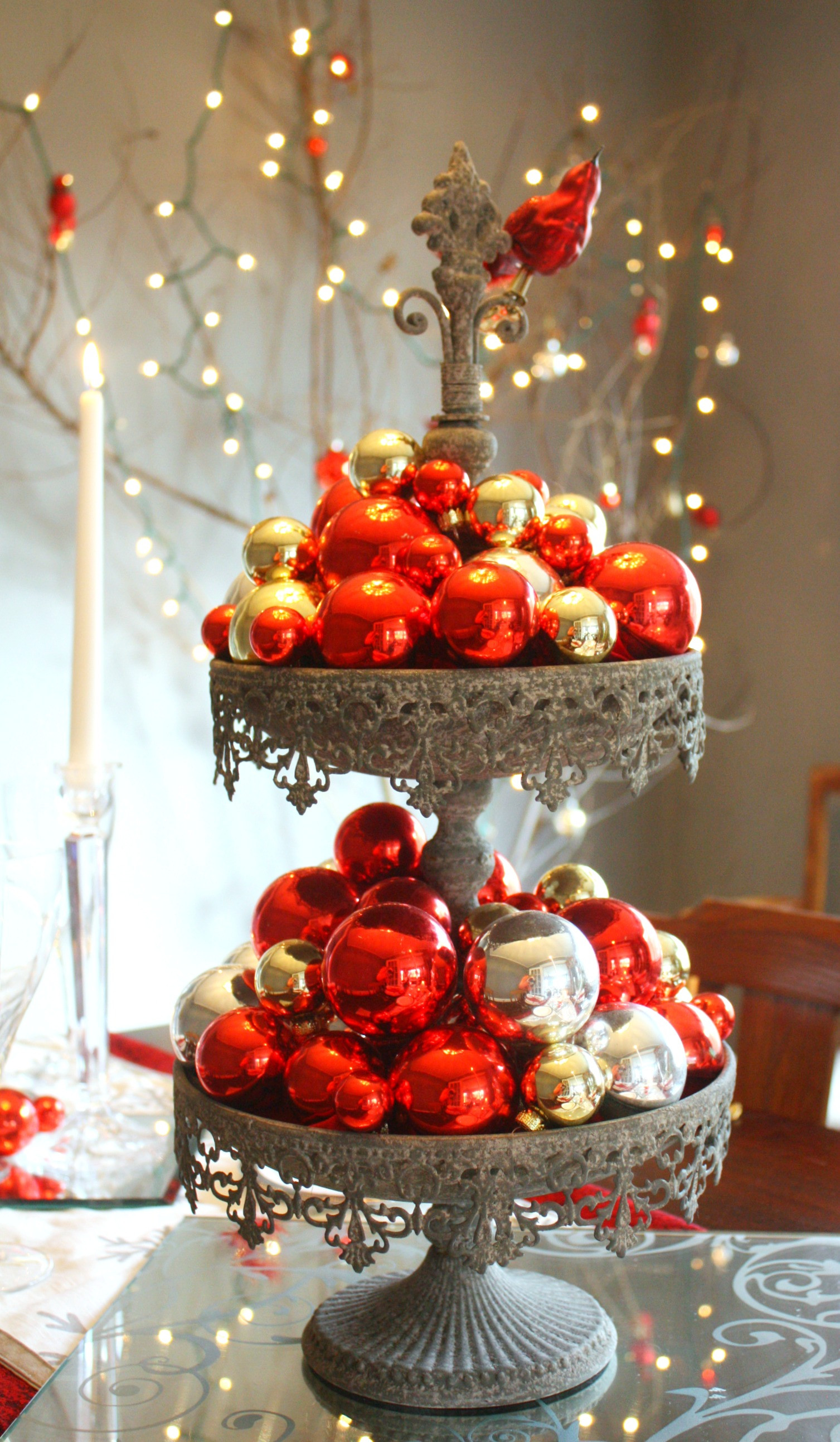 Christmas Table Decorations Elegant Red & Silver Christmas Table Setting • Craft Thyme
