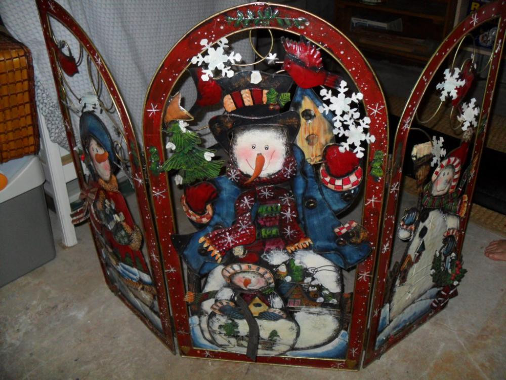 Christmas themed Fireplace Screen Beautiful Christmas themed Fireplace Screen
