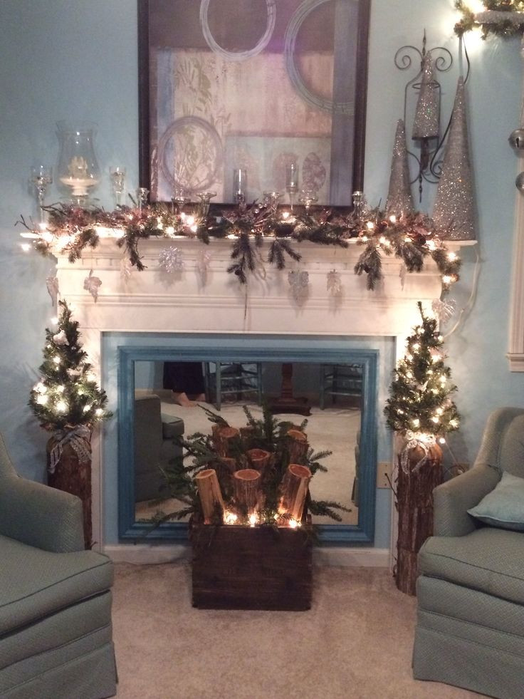 Christmas Themed Fireplace Screen  17 Best images about Fake Fireplace Mantles on Pinterest