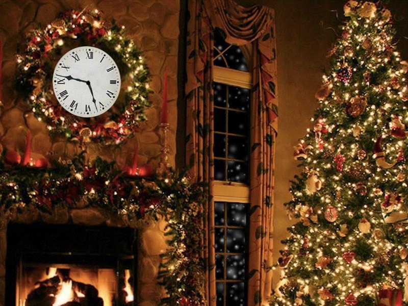 Christmas Themed Fireplace Screen  2015 Christmas fireplace screensaver – Wallpapers9