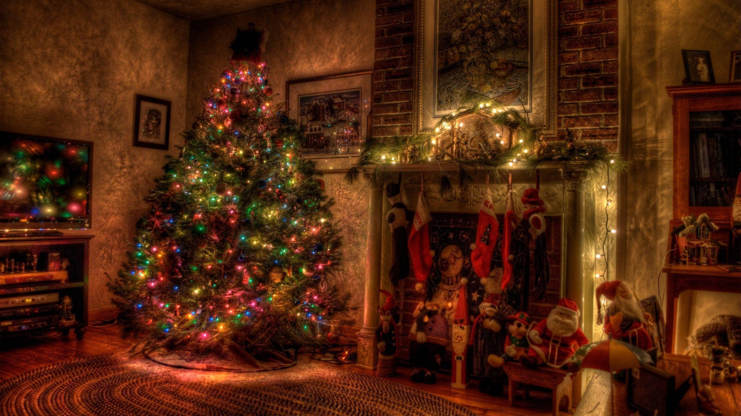 Christmas Themed Fireplace Screen  Christmas Fireplace Backgrounds Wallpaper Cave