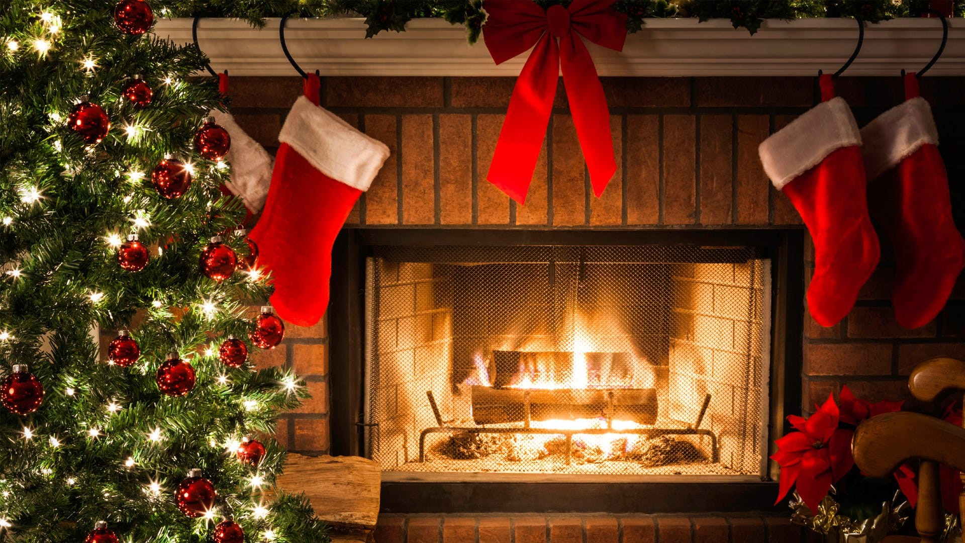 Christmas Themed Fireplace Screen  New holiday themed radio station debuts in Myrtle Beach