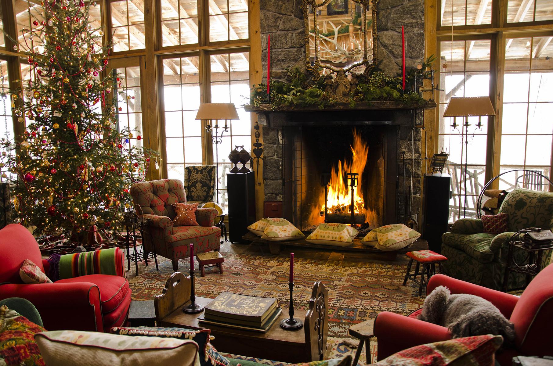 Christmas Themed Fireplace Screen  12 Christmas Fireplace s Ideas