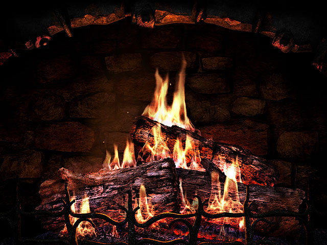 Christmas Themed Fireplace Screen  Fireplace 3D Screensavers Fireplace Real fireplace at