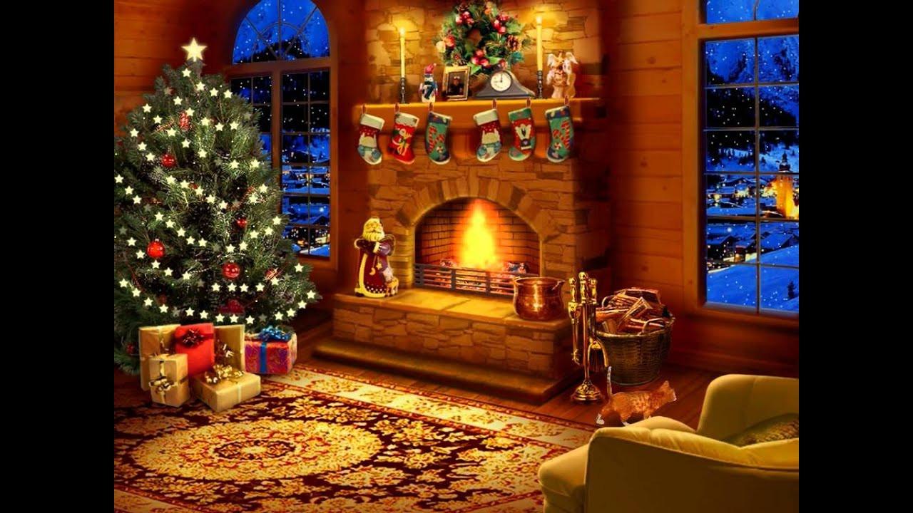 Christmas Themed Fireplace Screen  Night Before Christmas Screensaver