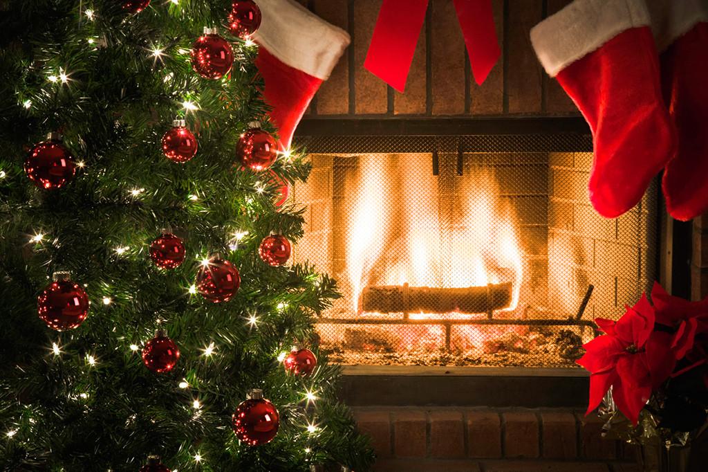 Christmas Tree Fireplace  Christmas Safety