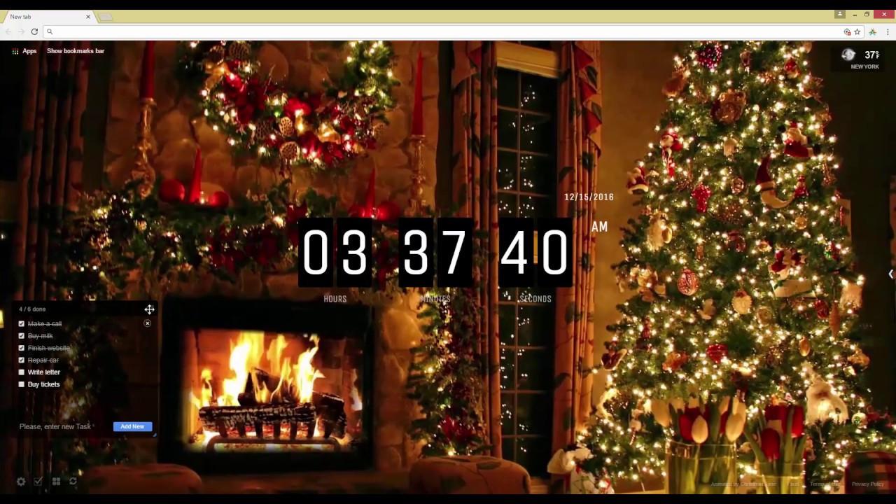 Christmas Tree Fireplace  Christmas Tree and Fireplace Live Wallpaper