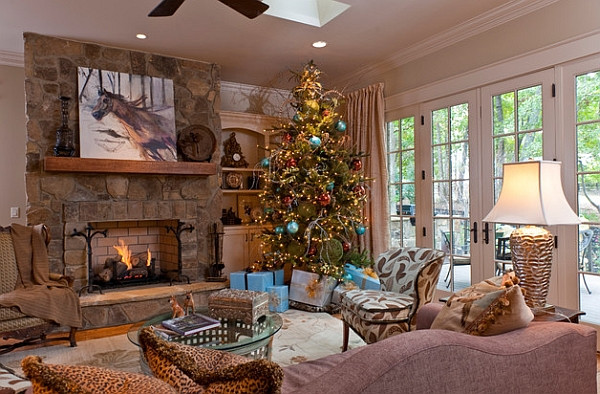 Christmas Tree Fireplace  Christmas Tree Ideas How to Decorate a Christmas Tree