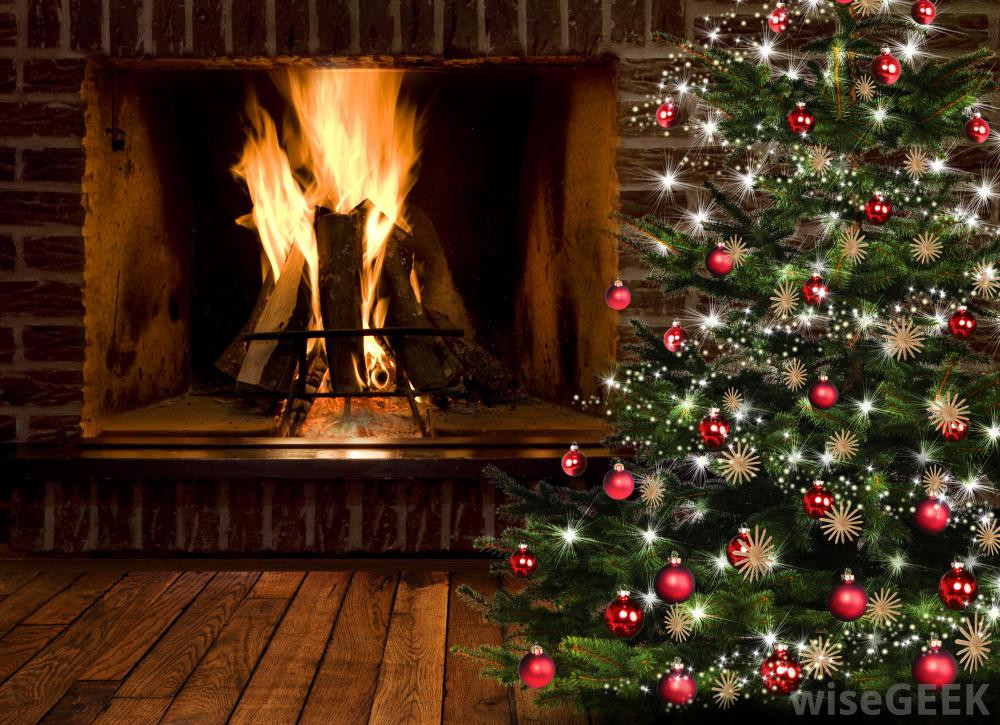 Christmas Tree Fireplace  Where Should I Put my Christmas Tree with pictures