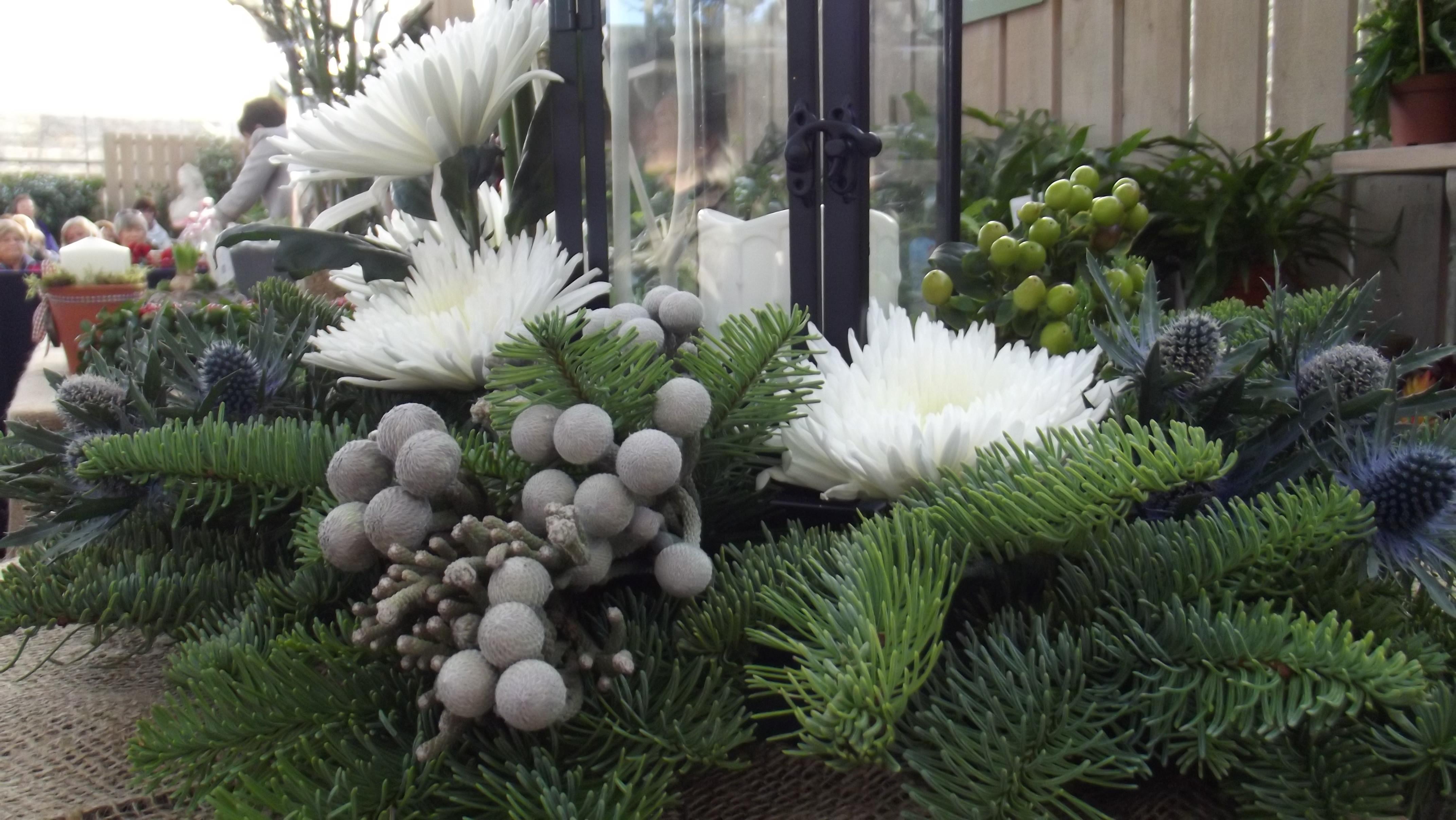 Christmas Tree Flower Arrangement  Christmas Tree Lantern Floral Arrangement with Carol Bone