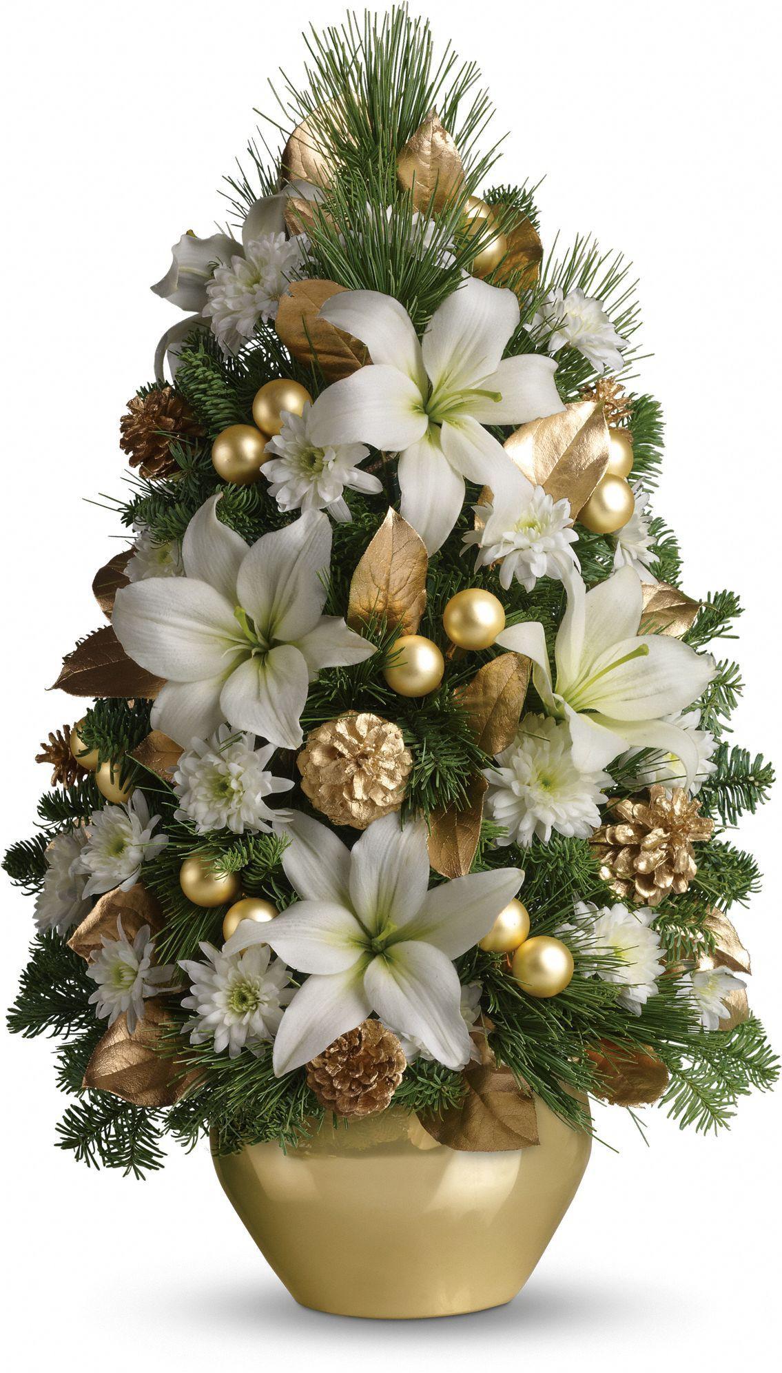 Christmas Tree Flower Arrangement  Celebration Tree Floral Arrangements