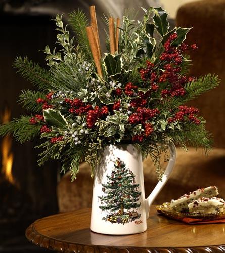Christmas Tree Flower Arrangement  Flower Shop Christmas