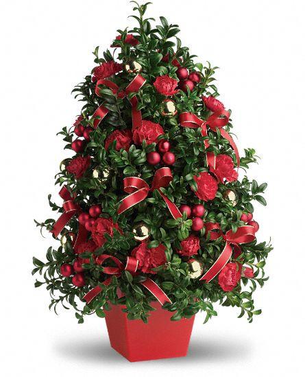 Christmas Tree Flower Arrangement  Teleflora Christmas Giveaway $75 Gift Card for Teleflora