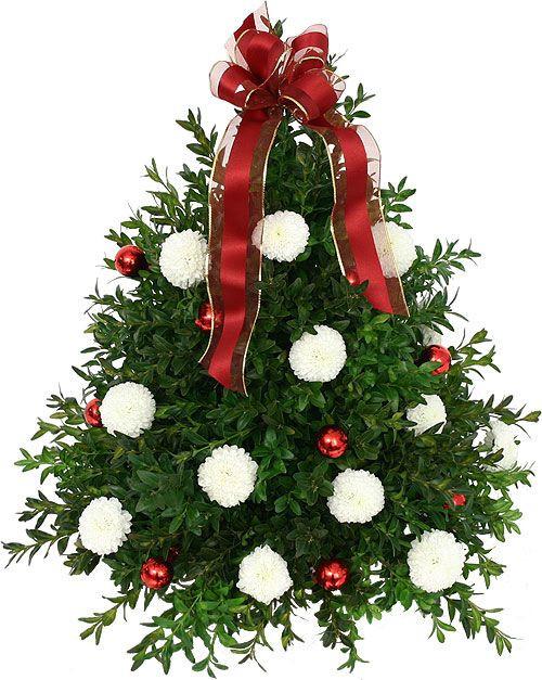 Christmas Tree Flower Arrangement  Christmas Flower Arrangements