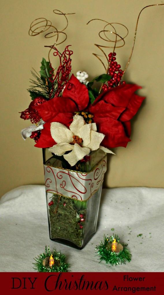 Christmas Tree Flower Arrangement Inspirational Diy Christmas Flower Arrangement Made Easy with the Dollar