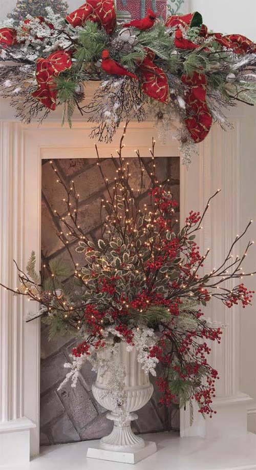 Christmas Tree Flower Arrangement  Creating Holiday Centerpieces with Lighted Branches