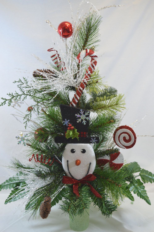Christmas Tree Flower Arrangement  NO C1110 Holiday Christmas Tree Cemetery Cone Vase