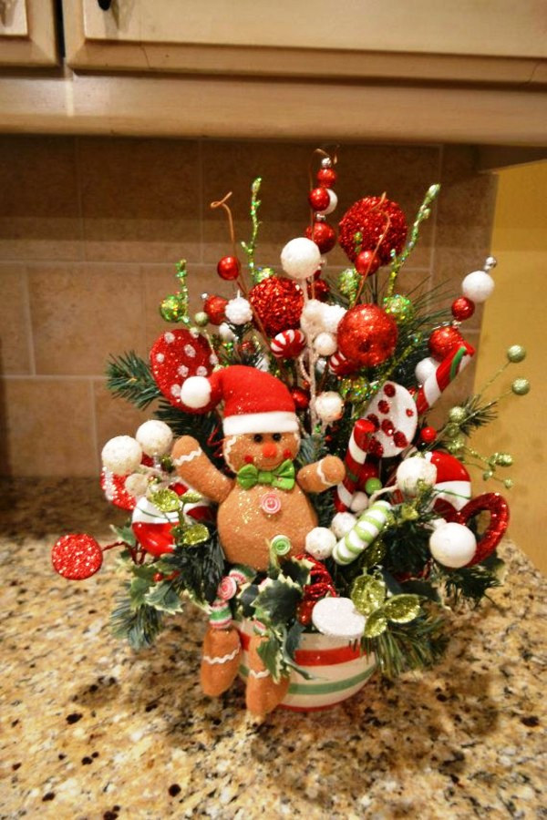 Christmas Tree Flower Arrangement  15 Flower Arrangement Ideas for Christmas · Inspired Luv