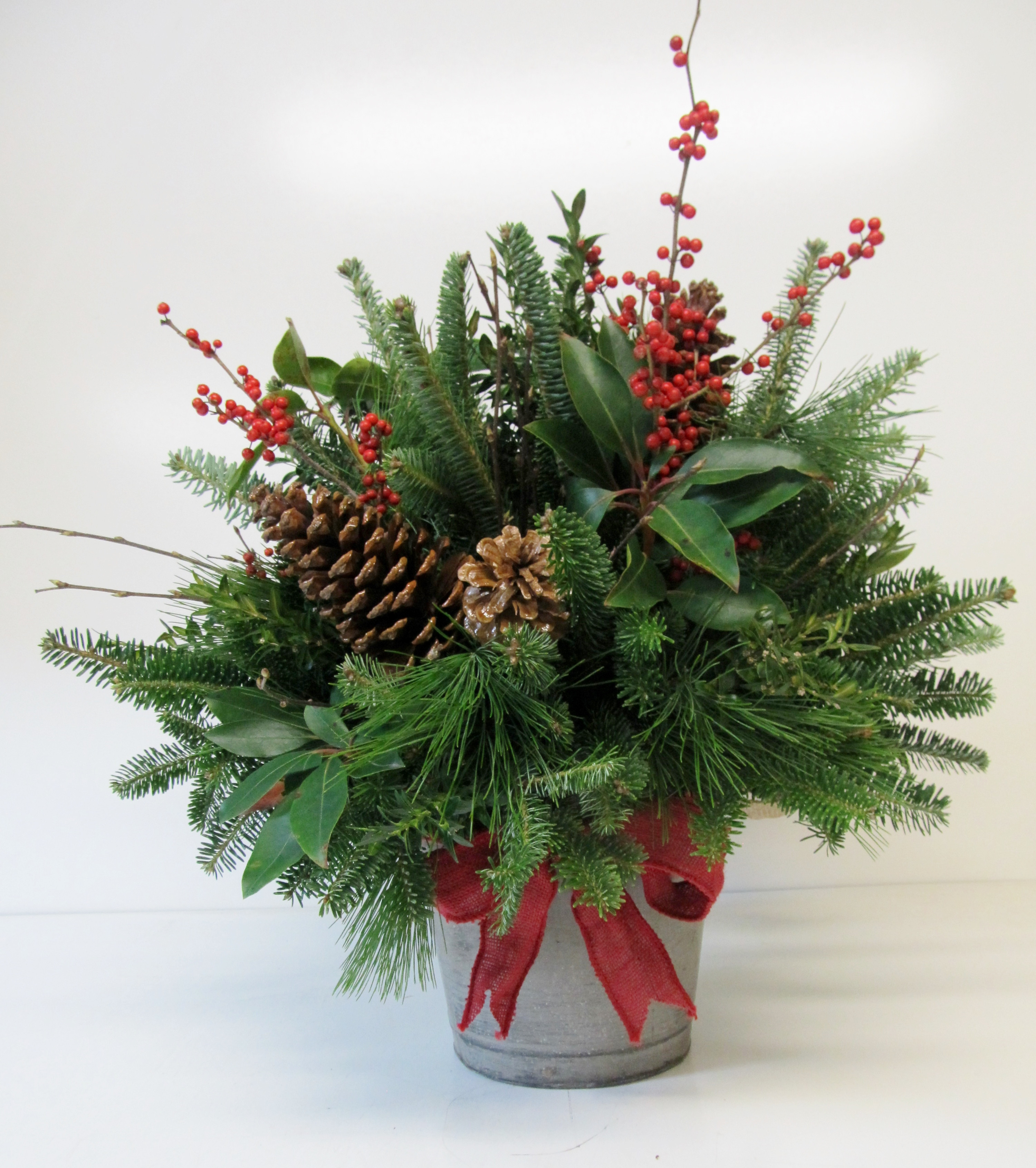 Christmas Tree Flower Arrangement  Country Christmas Charm Country Lane Florist and Gift