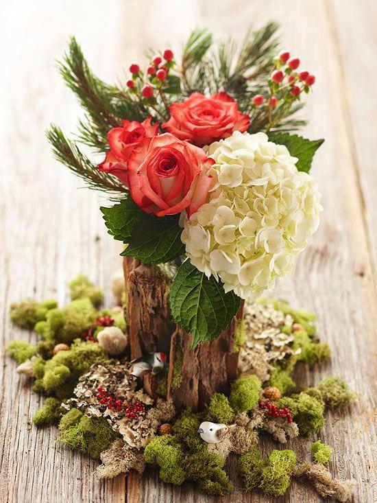 Christmas Tree Flower Arrangement  26 best images about Basing Arrangements on Pinterest
