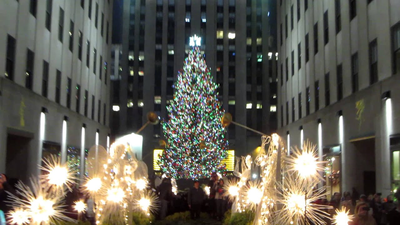 Christmas Tree Lighting Nyc  Happy Holidays from The Rockefeller Center Christmas Tree