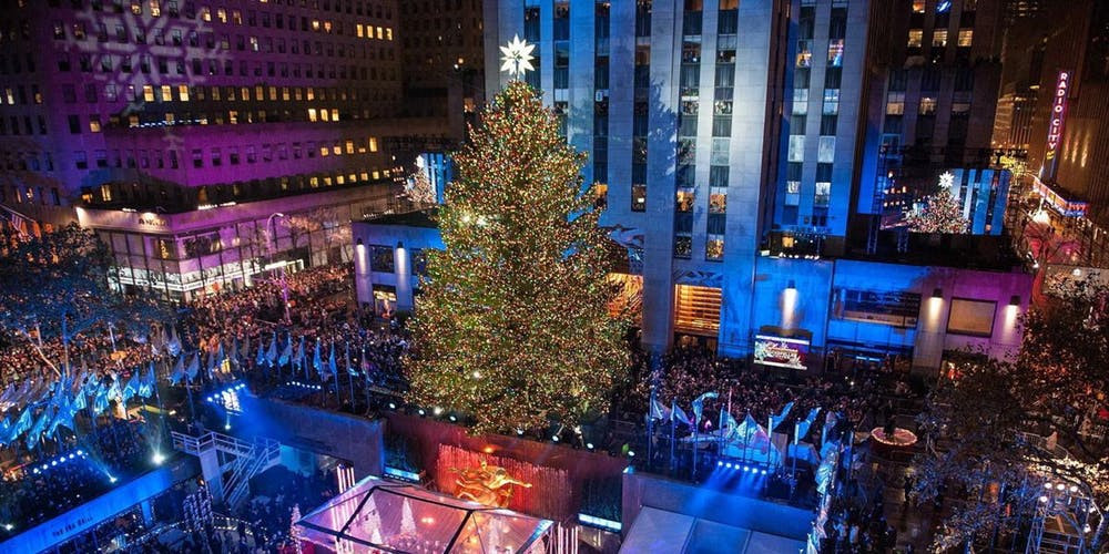 Christmas Tree Lighting Nyc  Rockefeller Center Holiday Christmas Tree Lighting 2018