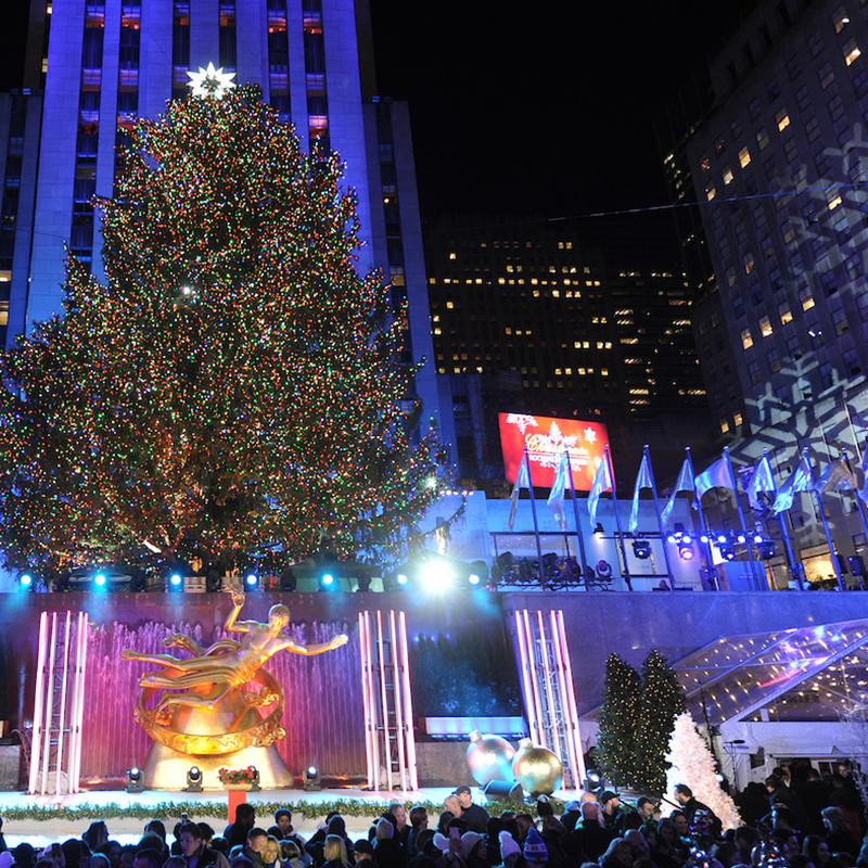 Christmas Tree Lighting Nyc  Rockefeller Center