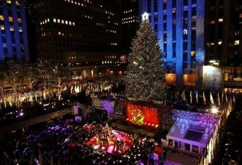 Christmas Tree Lighting Nyc  Rockefeller Center Christmas Tree Lighting 2019