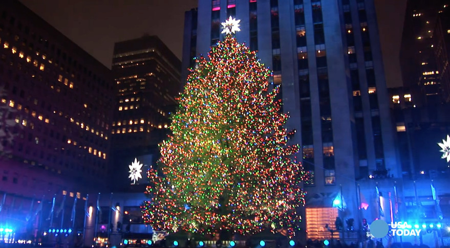 Christmas Tree Lighting Nyc  The Rockefeller Center Christmas Tree goes live