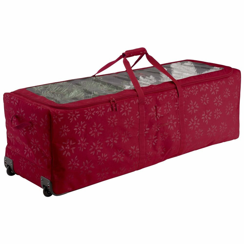 Christmas Tree Storage Container  Artificial Christmas Tree Storage Bag Box Bin Rolling