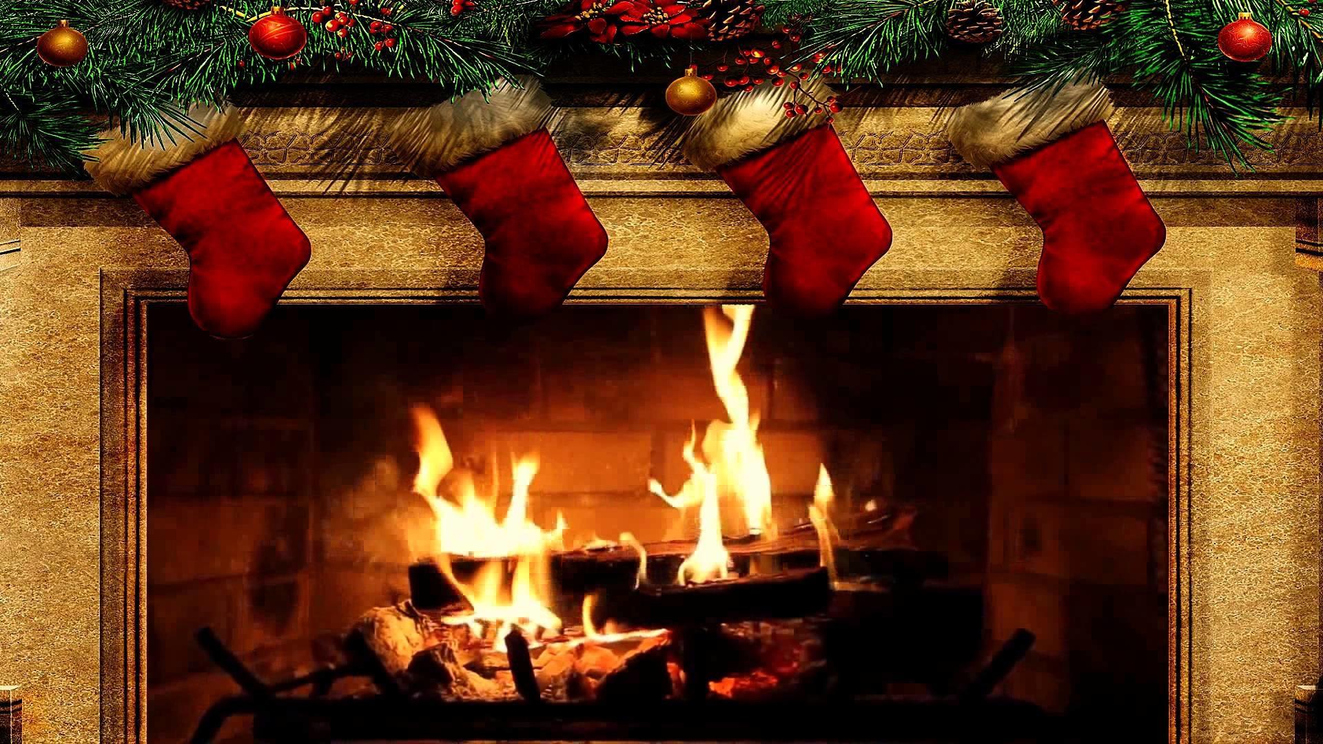 Christmas Wallpaper Fireplace  Christmas Fireplace Wallpaper 57 images