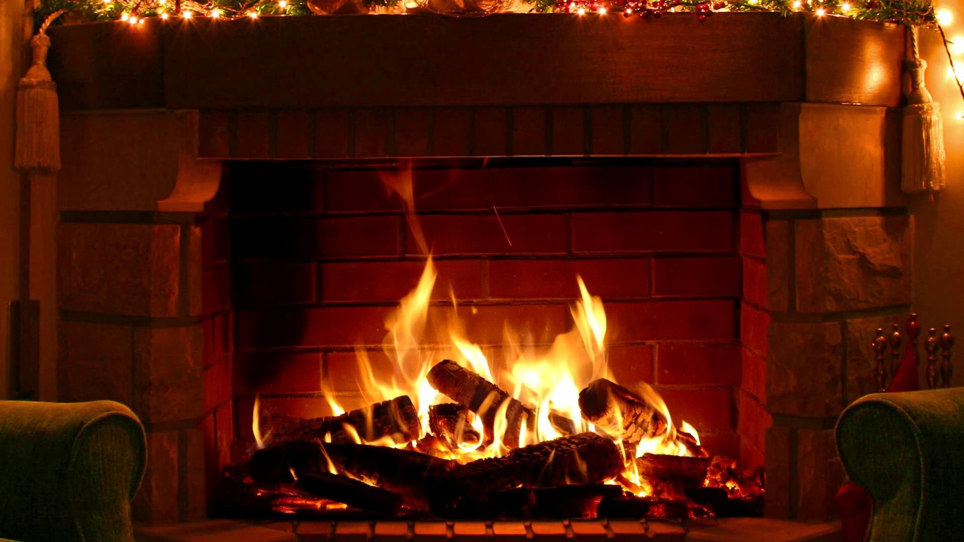 Christmas Wallpaper Fireplace  Fireplace Wallpaper 57 images