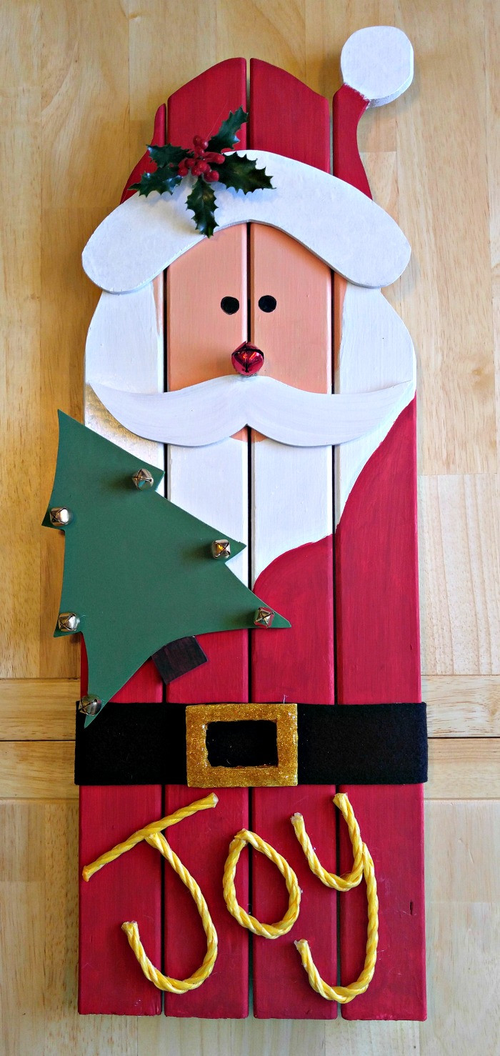 Christmas Wood Art  Santa Claus Wall Hanging DIY Christmas Project