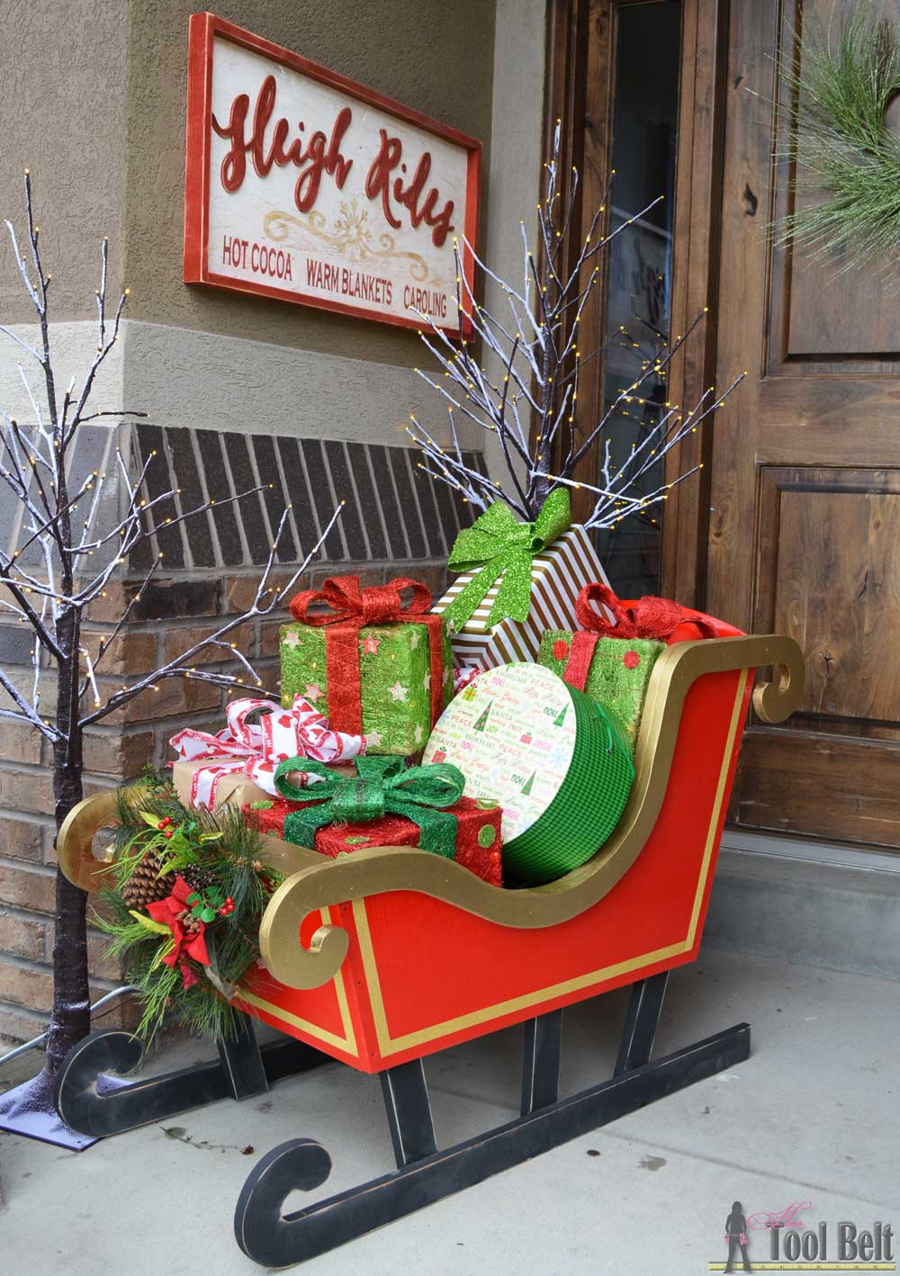 Christmas Wood Art  DIY Santa Sleigh Her Tool Belt