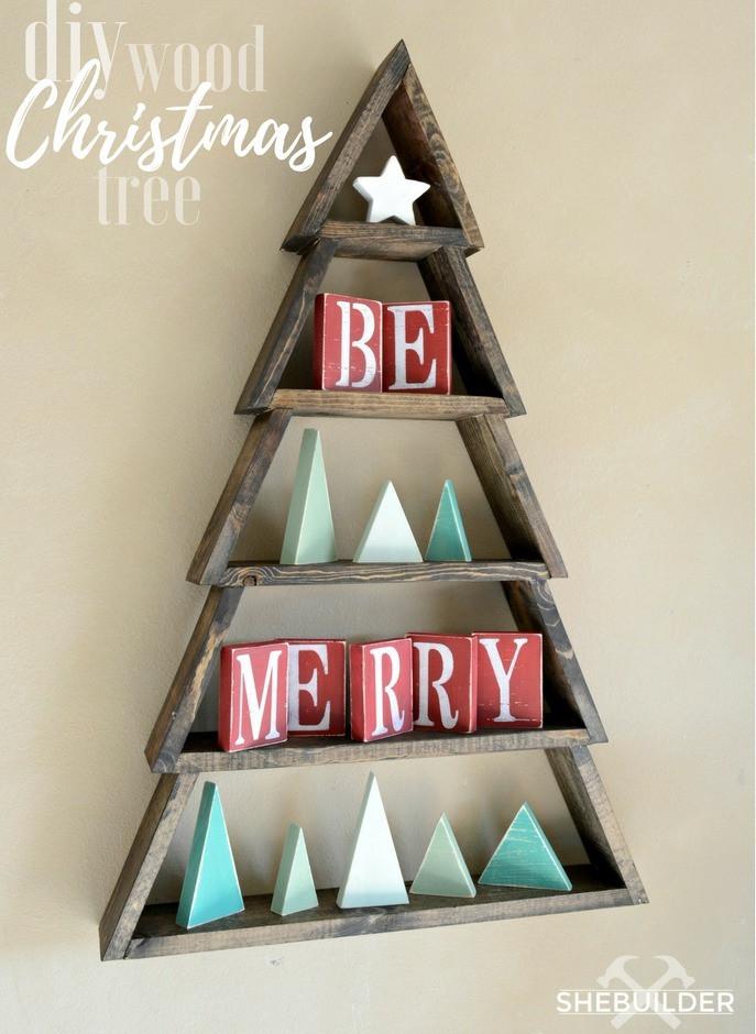 Christmas Wood Art  Ana White