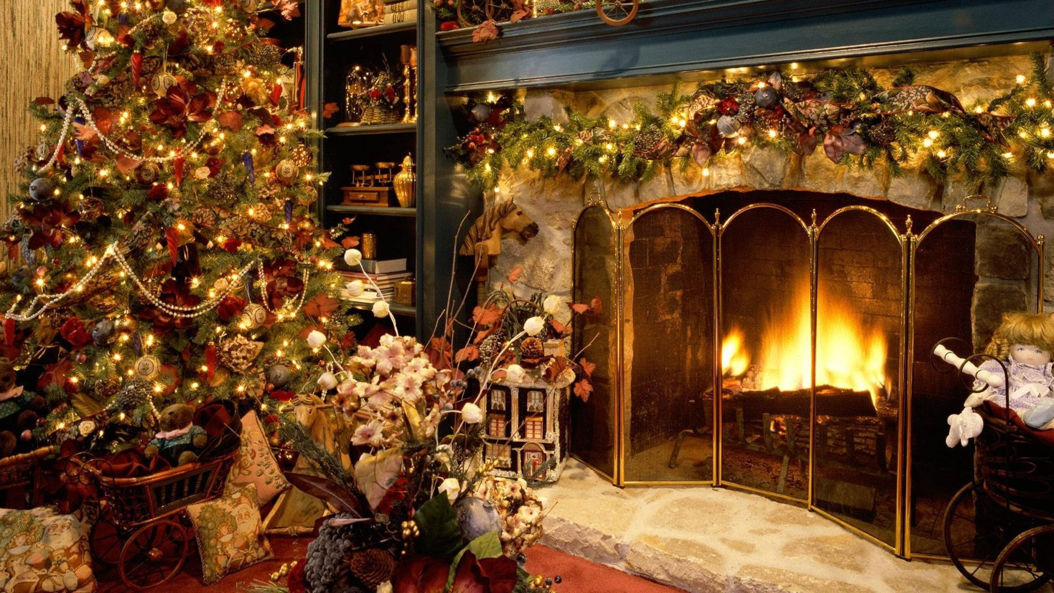 Cozy Christmas Fireplace New Christmas Fireplace Backgrounds Wallpaper Cave
