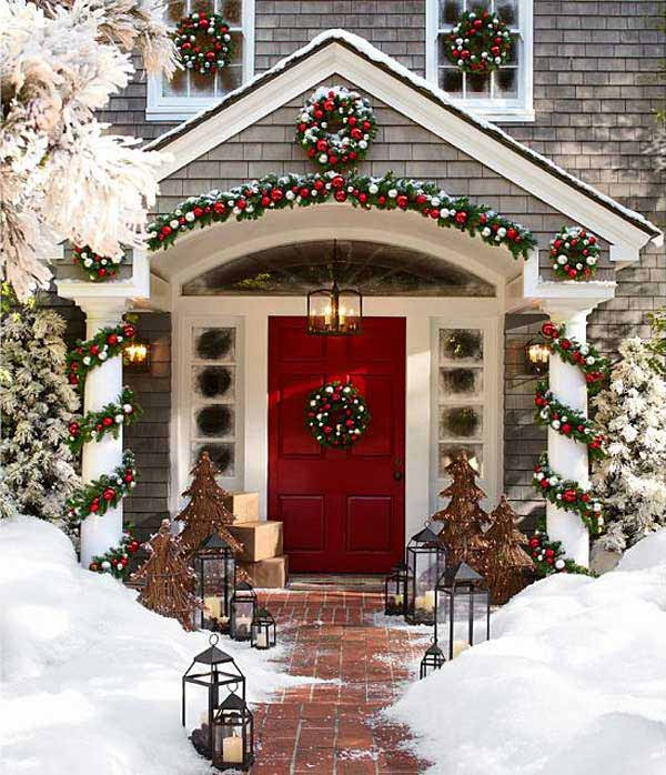 Decorating Porch For Christmas  40 Cool DIY Decorating Ideas For Christmas Front Porch