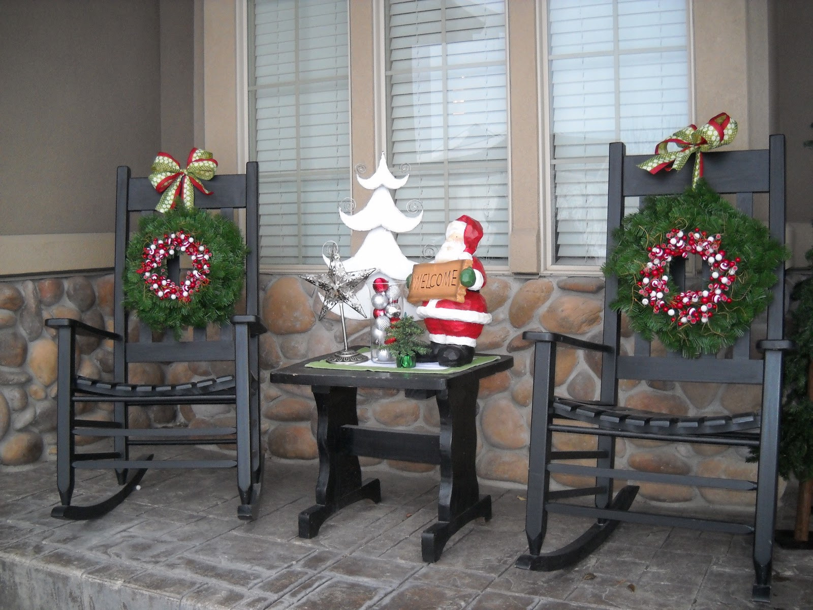 Decorating Porch For Christmas  Do it Yourself Duo Front porch decor continued