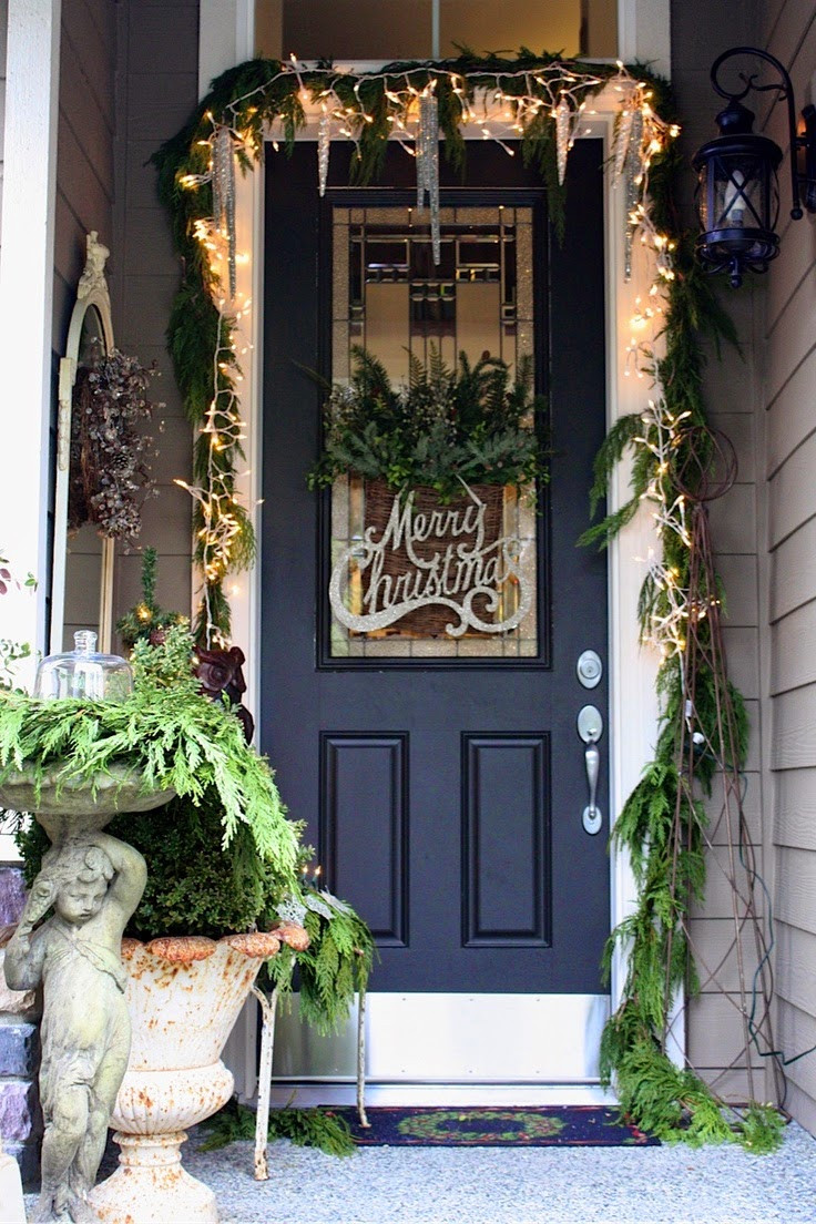 Decorating Porch For Christmas  Christmas Ideas 2013 Christmas Front Door Entry and Porch