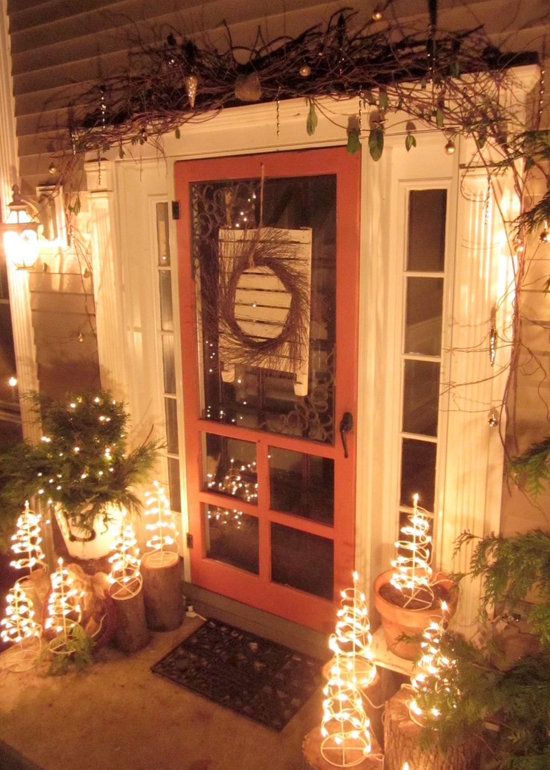 Decorating Porch For Christmas  Down to Earth Style Rustic Christmas Porch