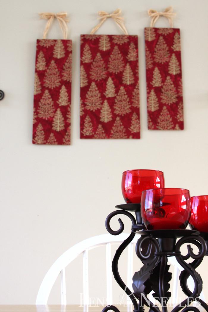 Diy Christmas Wall Art  Pens and Needles DIY Christmas Wall Art